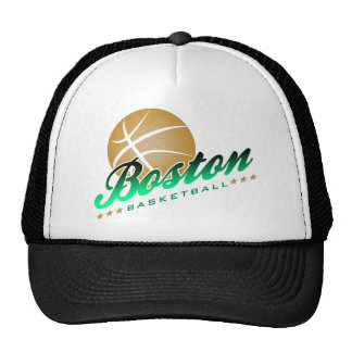 Boston Basketball Trucker Hat