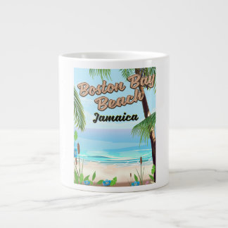 Boston bay beach, Jamaica Large Coffee Mug