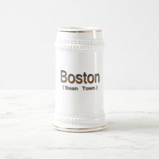 Boston (Bean Town) brn Beer Stein
