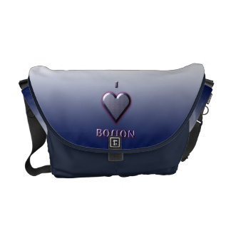 Boston -- Blue with glow Courier Bag