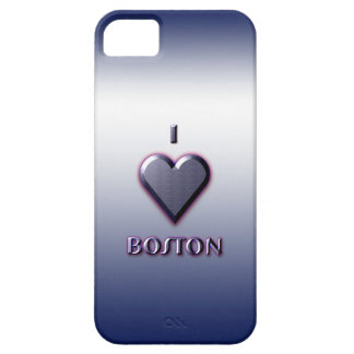Boston -- Blue with glow iPhone SE/5/5s Case