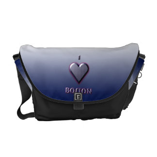 Boston -- Blue with glow Messenger Bag