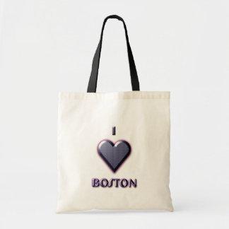 Boston -- Blue with glow Tote Bag