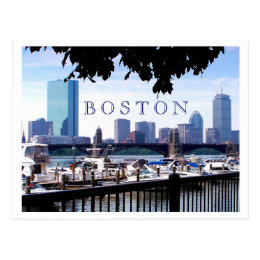 Boston - Boats, Boughs and Bridges Postcard
