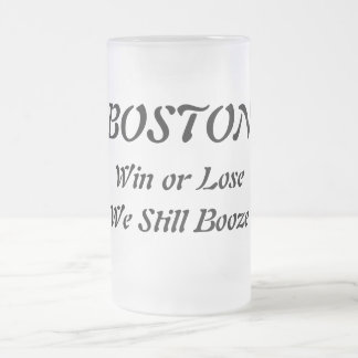 Boston Boozers Frosted Glass Beer Mug