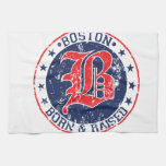 Boston born raised red hand towels