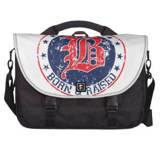 Boston born raised red commuter bag
