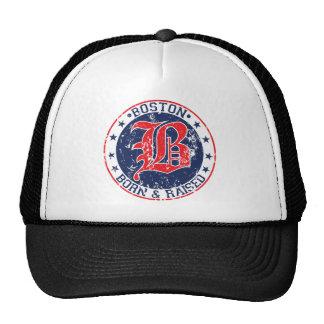 Boston born raised red.png trucker hat