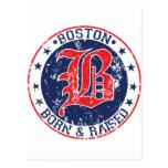 Boston born raised red post card