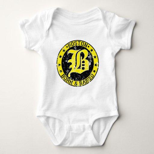 Boston born raised yellow.png t-shirt