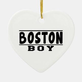 Boston Boy Designs Christmas Ornament