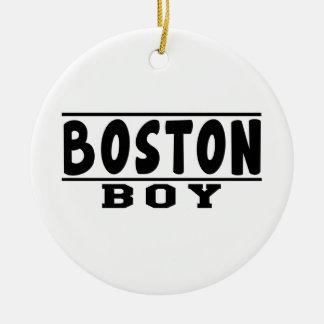 Boston Boy Designs Christmas Tree Ornament