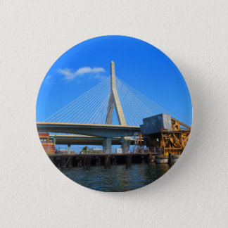 Boston Bridge Photo on gifts Pinback Button