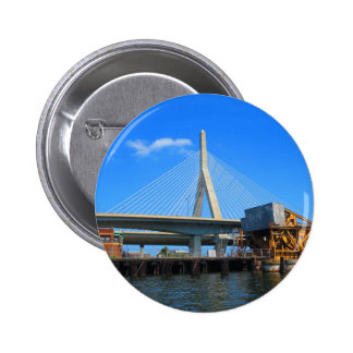 Boston Bridge Photo on gifts Pinback Button