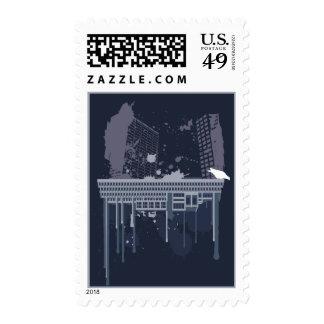 Boston Brutal (blue version) Stamp
