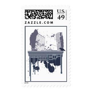 Boston Brutal (blue version) Stamps