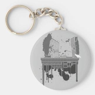 Boston Brutal grey version Key Chains