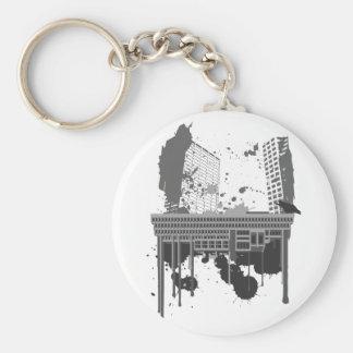 Boston Brutal grey version Key Chain