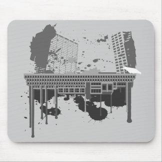 Boston Brutal (grey version) Mouse Pad