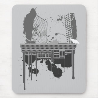 Boston Brutal (grey version) Mouse Pad