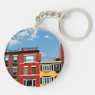 Boston buildings Double-Sided round acrylic keychain