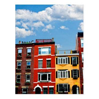 Boston buildings postcard