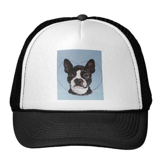 Boston Bull Dog Art Trucker Hat