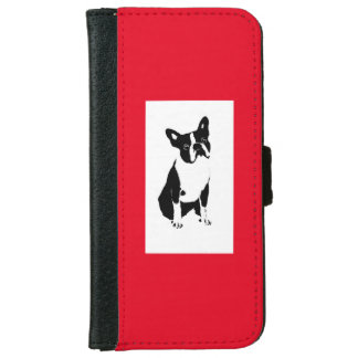 BOSTON BULL IPHONE 6 WALLET/HOLDER WALLET PHONE CASE FOR iPhone 6/6S