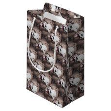 BOSTON Bull PUPPY FOR Christmas Small Gift Bag