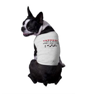BOSTON BULL Sized RESCUE DOG T SHIRT