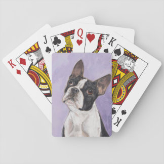Boston bull terrier baraja de cartas