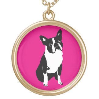 BOSTON BULL TERRIER NECKLACE-GOLD FINISH GOLD PLATED NECKLACE