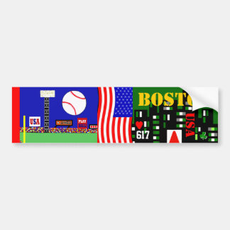 Boston Bumper Sticker for Boston Sports Fan Gift Car Bumper Sticker