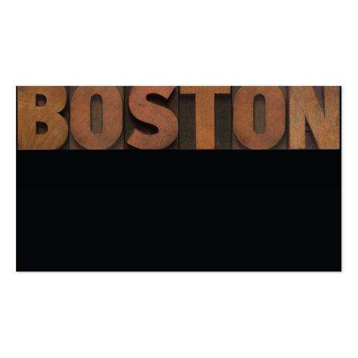 boston business card