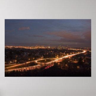 Boston by Night Print