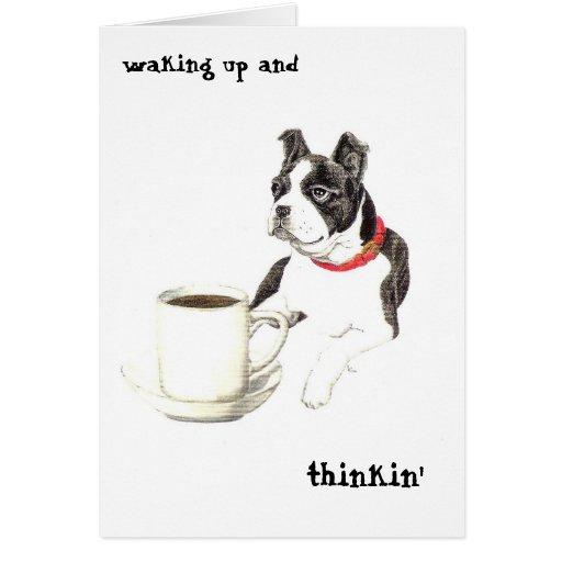 Boston Caffeine Greeting Cards