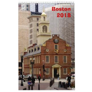 Boston Calendar - 2018