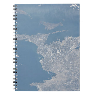 Boston cape cod day ESC_large_ISS026_ISS026-E-1783 Spiral Notebooks