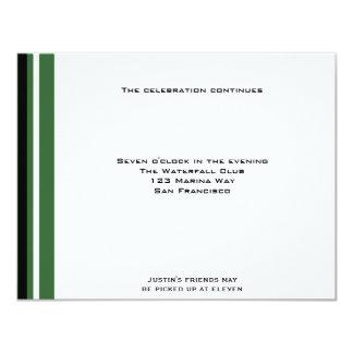 Boston Celtics Sports Bar Mitzvah Reception Card