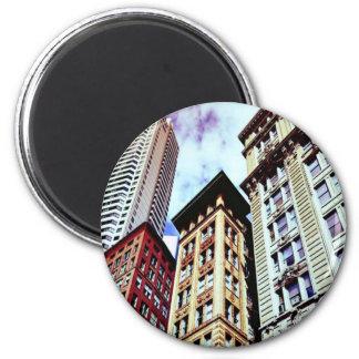 Boston céntrica imán redondo 5 cm