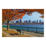 Boston Charles River Autumn Poster