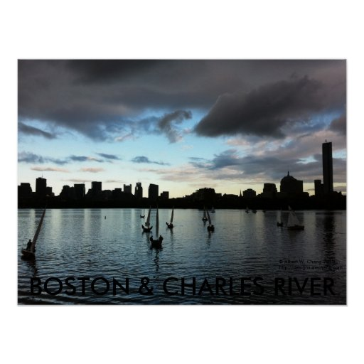 BOSTON & CHARLES RIVER POSTER