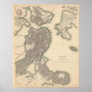 Boston, Charlestown, Roxbury Poster