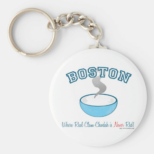 Boston Chowder War Keychain