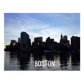 Boston Cit ySkyline Postcard