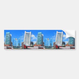 Boston City Buildings n Urban Landscape Bumper Sticker