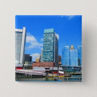 Boston City Buildings n Urban Landscape Pinback Button