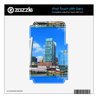 Boston City Buildings n Urban Landscape Skins For iPod Touch 4G