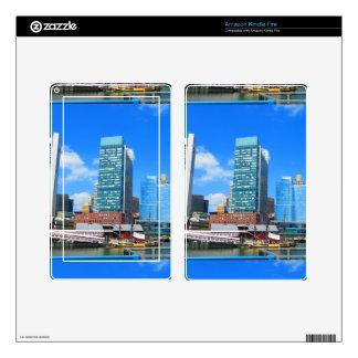 Boston City Buildings n Urban Landscape Skins For Kindle Fire