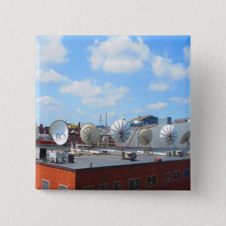 Boston city dish cable antenna roof top building button